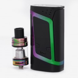 Authentic SMOKTech SMOK Alien TC VW Starter Kit w/ TFV8 Baby Tank - Black + Rainbow, 6~220W, 3ml, 22mm Diameter