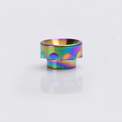 Groove Style Drip Tip for Kennedy 24 / 25 / 528 Goon / Goon LP / Battle / Reload RDA - Rainbow, Brass, 10.83mm