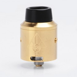 Goon V4 Style RDA Rebuildable Dripping Atomizer w/ Wide Bore Drip Tip / BF Pin - Gold, Stainless Steel, 24mm Diameter