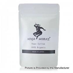 Authentic Ninja Workz Wicking Organic Cotton Pack for RBA / RDA / RTA / RDTA Atomizer - White (12 PCS)