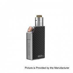 Authentic GeekVape Mech Pro Mechanical Box Mod + Medusa RDTA Atomizer Kit - Silver, Zinc Alloy, 1 x 18650