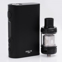 Authentic Eleaf iStick QC 200W 5000mAh TC VW Variable Wattage Mod with MELO 300 Tank Kit - Black, 1~200W, 3.5ml, 0.17 Ohm