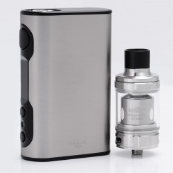 Authentic Eleaf iStick QC 200W 5000mAh TC VW Variable Wattage Mod with MELO 300 Tank Kit - Silver, 1~200W, 3.5ml, 0.17 Ohm