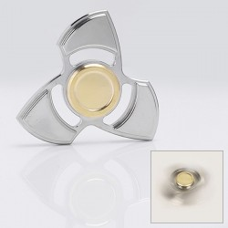 EDC Hand Fidget Tri-Spinner Focus Toy - Silver, Stainless Steel