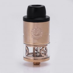 Authentic Augvape Merlin RDTA Rebuildable Dripping Tank Atomizer - Rose Gold, Stainless Steel + Glass, 3.5ml, 24mm Diameter