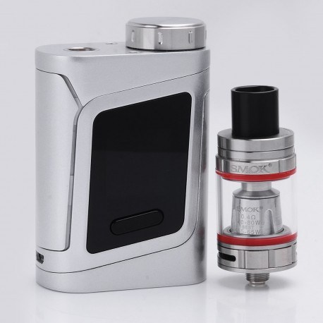 Authentic SMOKTech SMOK AL85 85W TC VW Variable Wattage Mod + TFV8 Baby Beast Tank Kit - Silver, 1~85W, 1 x 18650