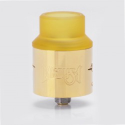 Medusa Style RDA Rebuildable Dripping Atomizer - Gold, Stainless Steel, 24mm Diameter