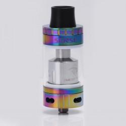 Authentic Sense Blazer 200 Sub Ohm Tank - Rainbow + Transparent, Stainless Steel + Pyrex Glass, 6ml, 0.6 ohm / 0.2 ohm