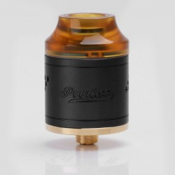 Authentic GeekVape Peerless RDA Rebuildable Dripping Atomizer - Black, Stainless Steel, 24mm Diameter