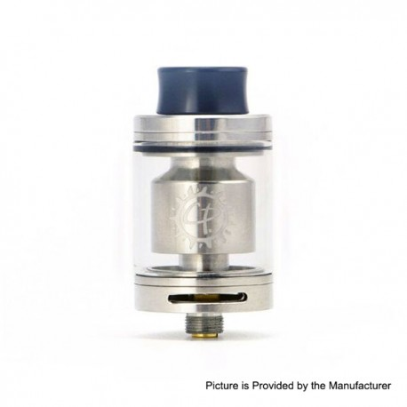 Authentic ADVKEN CP RTA Rebuildable Tank Atomizer - Silver, Stainless Steel + Glass, 2.5ml, 24mm Diameter