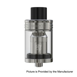 Authentic Joyetech Unimax 2 Sub Ohm Tank Atomizer - Silver, Stainless Steel + Glass, 5.0ml, 25mm Diameter