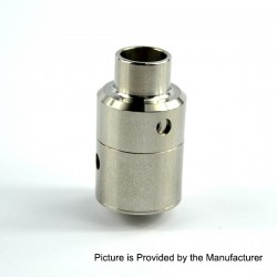 Kindbright Aeronaut 24 V2 Style RDA Rebuidlable Dripping Atomizer w/ BF Pin - Silver, Stainless Steel, 24mm Diameter