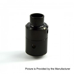 Kindbright Aeronaut 24 V2 Style RDA Rebuidlable Dripping Atomizer w/ BF Pin - Black, Stainless Steel, 24mm Diameter