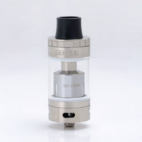 Authentic Sense Blazer 200 Sub-Ohm Tank Clearomizer - Silver, Stainless Steel + Glass, 6ml, 0.6 Ohm, 26mm Diameter