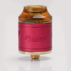Authentic GeekVape Peerless RDA Rebuildable Dripping Atomizer - Magenta, Stainless Steel, 24mm Diameter