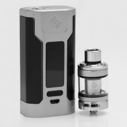 Authentic Wismec Predator 228 228W TC VW Variable Wattage Mod + Elabo Tank Kit - Silver, 1~228W, 2 x 18650, 100~315'C/200~600'F