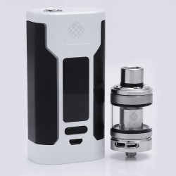 Authentic Wismec Predator 228 228W TC VW Variable Wattage Mod + Elabo Tank Kit - White, 1~228W, 2 x 18650, 100~315'C/200~600'F