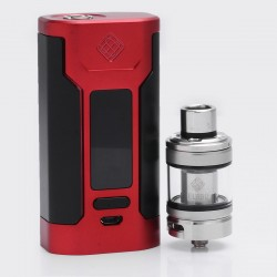 Authentic Wismec Predator 228 228W TC VW Variable Wattage Mod + Elabo Tank Kit - Red, 1~228W, 2 x 18650, 100~315'C/200~600'F