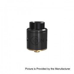 Authentic Vandy Vape ICON RDA Rebuidlable Dripping Atomizer w/ BF Pin - Black, Stainless Steel, 24mm Diameter