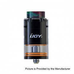 Authentic IJOY RDTA 5 Rebuildable Dripping Tank Atomizer - Black, Stainless Steel, 4ml, 25mm Diameter