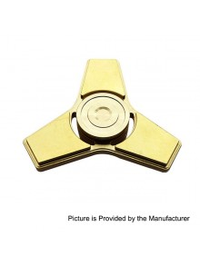 Hand Fidget Tri-Spinner Focus Toy EDC - Polished Brass, Brass, 606 Silicon Nitride Ceramic Bearings