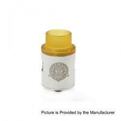 Pasiphae Style RDA Rebuildable Dripping Atomizer w/ PEI Drip Tip - Silver, Stainless Steel, 24mm Diameter