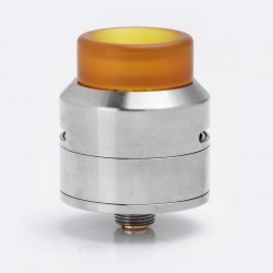 Authentic 528 Custom GOON LP RDA Rebuildable Dripping Atomizer w/ BF Pin - Silver, Stainless Steel + PEI, 24mm Diameter