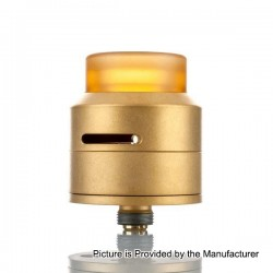Authentic 528 Custom GOON LP RDA Rebuildable Dripping Atomizer w/ BF Pin - Gold, Stainless Steel + PEI, 24mm Diameter