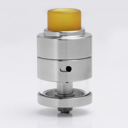 Authentic Cthulhu Mods Gaia RDTA Rebuildable Dripping Tank Atomizer - Silver, stainless steel + glass, 2ml, 24mm Diameter