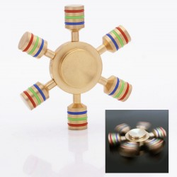 6 Axis Hand Spinner Fidget Toy S1 - Brass with a Hybrid Ceramic Bearing