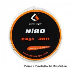 Authentic GeekVape Ni80 24GA Heating Resistance Wire for RBA / RDA / RTA - Silver, 0.5mm x 10m (30 Feet)