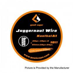 Authentic GeekVape Kanthal A1 Juggernaut Heating Wire - Silver, (24GA + 38GA) x 2 + Ribbon (38GA x 24GA), 3m (10 Feet)