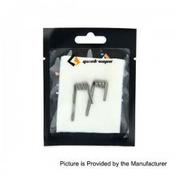 Authentic GeekVape Kanthal A1 Alien Clapton Coil for RBA Atomizers - Silver, 26GA x 16GA + 30GA, 0.2 Ohm