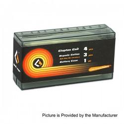 Authentic GeekVape 3 in 1 Prebuilt Kanthal A1 Coil + Cotton + 18650 Battery Case Kit - (Clapton 28GA x 2 / Paralleled + 32GA)