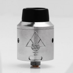 Goon V4 Style RDA Rebuildable Dripping Atomizer w/ BF Pin - Silver, Stainless Steel, 24mm Diameter