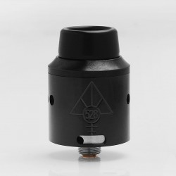 Goon V4 Style RDA Rebuildable Dripping Atomizer w/ BF Pin - Black, Stainless Steel, 24mm Diameter