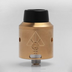 Goon V4 Style RDA Rebuildable Dripping Atomizer w/ BF Pin - Gold, Stainless Steel, 24mm Diameter