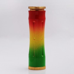 Timekeeper Time Keeper V2 Style Mechanical Mod - Red + Yellow + Green, Brass, 1 x 18650