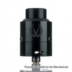 Authentic Vandy Vape Govad RDA Rebuildable Dripping Atomizer - Black, Stainless Steel, 24mm Diameter