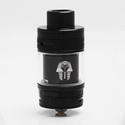 Authentic Digiflavor Pharaoh RTA Rebuildable Tank Atomizer - Black, Stainless Steel, 4.6ml, 25mm Diameter
