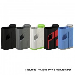 Authentic Eleaf iKonn Total 50W Mechanical Box Mod - Black Red, Stainless Steel, 1 x 18650