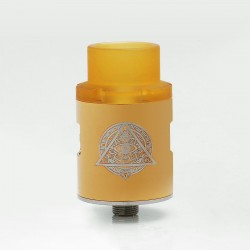 Pasiphae Style RDA Rebuildable Dripping Atomizer w/ PEI Drip Tip - Gold, Stainless Steel, 24mm Diameter