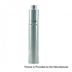 Kennedy Roundhouse V2 24 Style Mechanical Mod + Triple-Pole RDA Kit - Silver, Stainless Steel, 1 x 18650