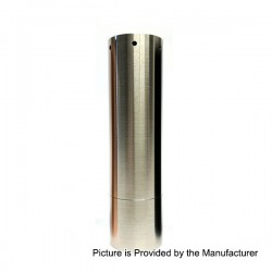 Kennedy Roundhouse V2 24 Style Mechanical Mod - Silver, Stainless Steel, 1 x 18650