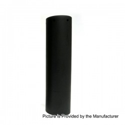 Kennedy Roundhouse V2 24 Style Mechanical Mod - Black, Stainless Steel, 1 x 18650