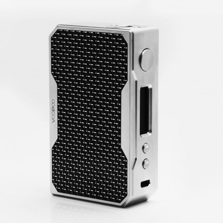 Authentic Voopoo Drag 157W TC VW Variable Wattage Box Mod - Silver + Black, Zinc Alloy, 5~157W, 2 x 18650