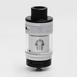 Authentic Digiflavor Pharaoh RTA Rebuildable Tank Atomizer - Silver, Stainless Steel, 4.6ml, 25mm Diameter