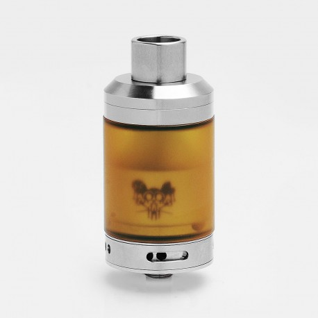 Kindbright Sherman Tank Style RTA Rebuildable Tank Atomizer - Silver, 316 Stainless Steel + PEI, 2ml / 4.5ml, 28mm Diameter