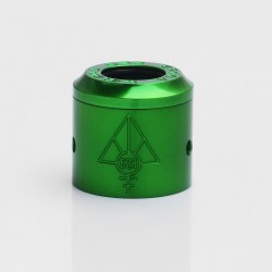 Authentic 528 Customs Gloss Replacement Top Cap + Sleeve for 24mm Goon RDA - Green, Aluminum, 24mm Diameter