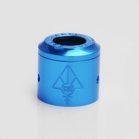 Authentic 528 Customs Gloss Replacement Top Cap + Sleeve for 24mm Goon RDA - Blue, Aluminum, 24mm Diameter